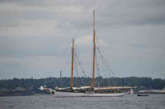 Ketch at Beach - scaled